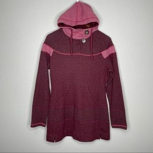 PrAna Caitlyn Tunic Sweater Hoodie Wool Blend | M